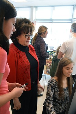 State education commissioner visits JFS