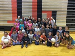 Elementary future volleyball players