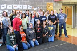 JFS staff group photo for college day