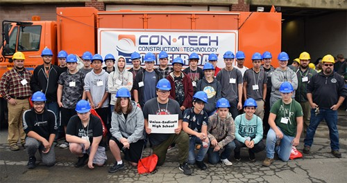 UEHS students at Construction Career Day.