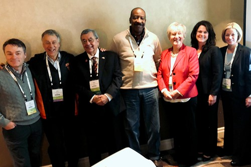 Administrators and BOE members at convention