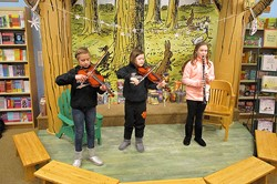 CFJ students perform at Barnes and Noble
