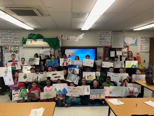 TJW students with their placemats