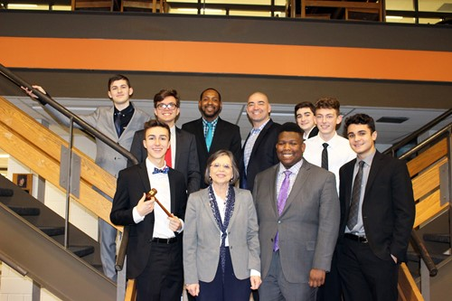 UEHS students with local politicians