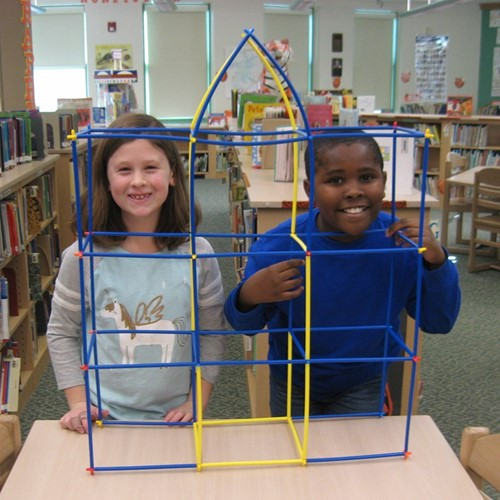 Students build in maker space
