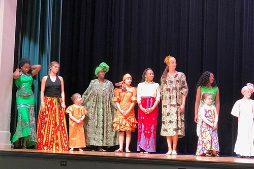 African clothing in fashion show