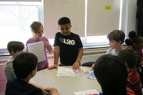 Students share poetry
