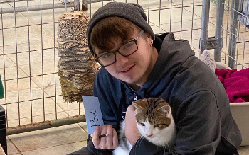 Student at Animal Care Sanctuary