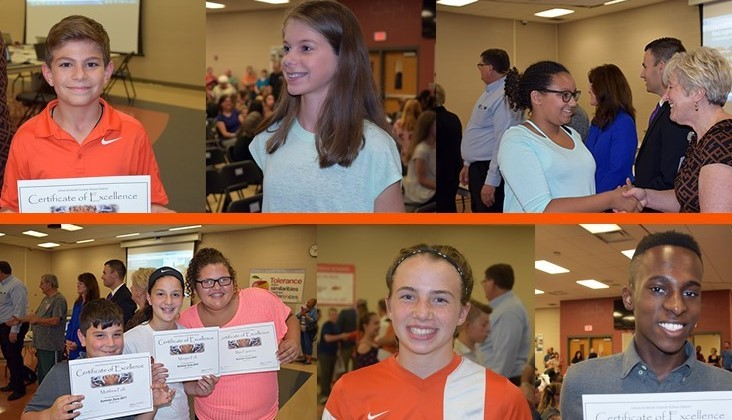 Students recognized by board members