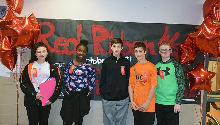 JFS students celebrate Red Ribbon Week.