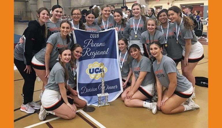 Cheer team wins regionals, qualifying for nationals!