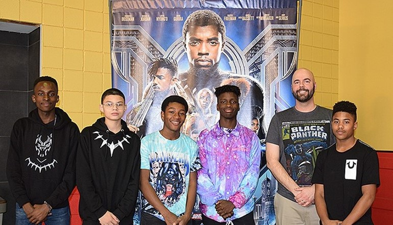 UEHS Squad at Black Panther movie