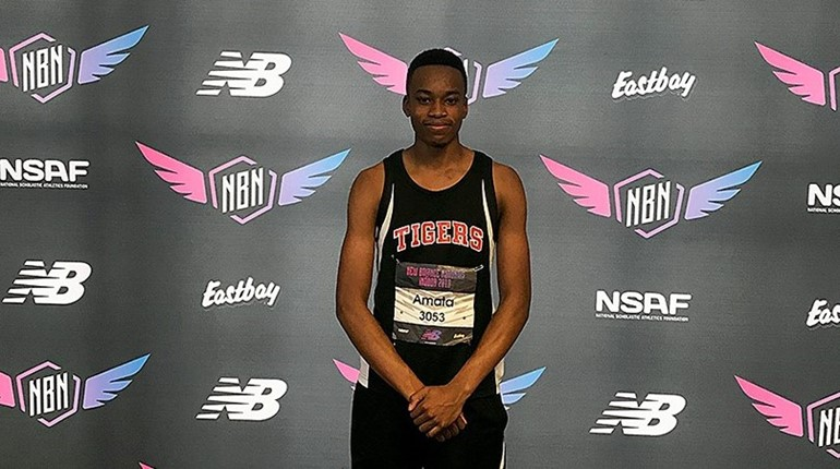 Ese Amata finished 17th in the high jump at nationals.