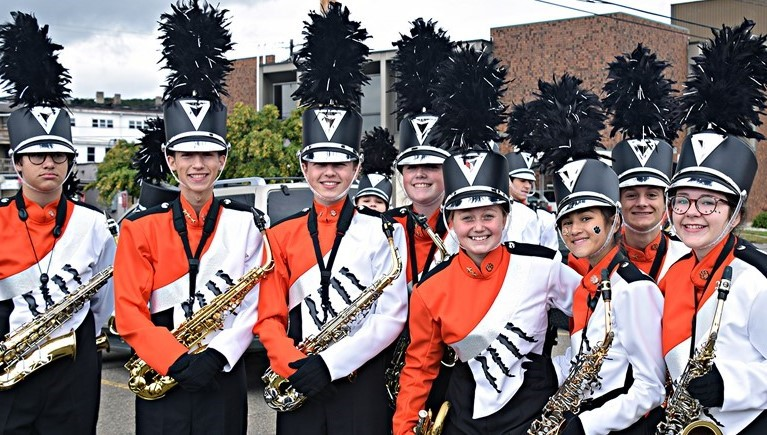 Marching band at Homecoming Parade!