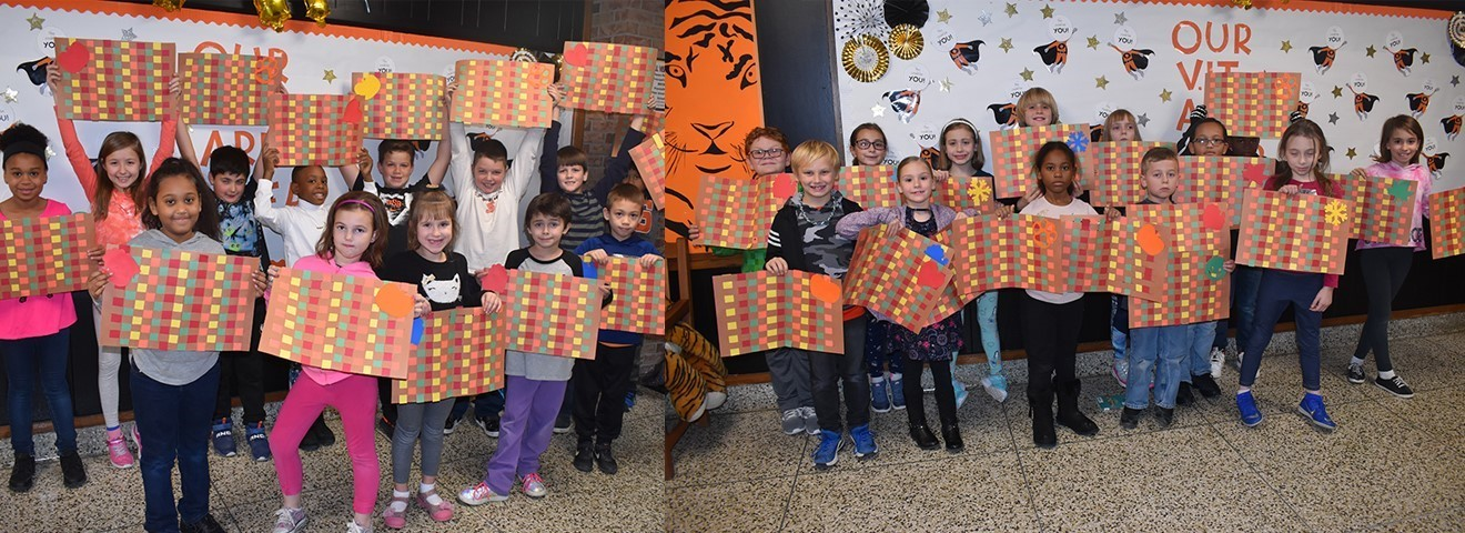 TJW third-graders made placemats for Mercy House.