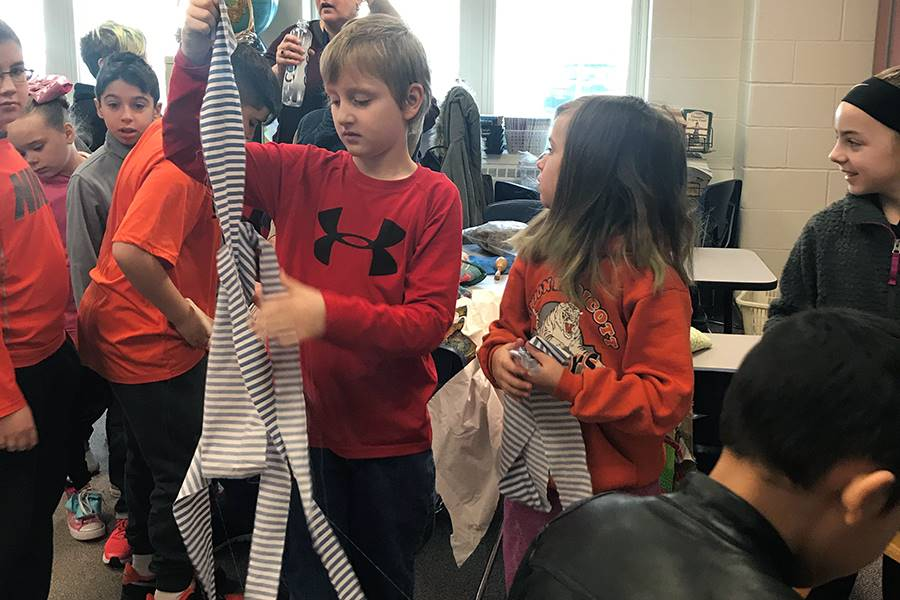 GFJ students learn about making yarn