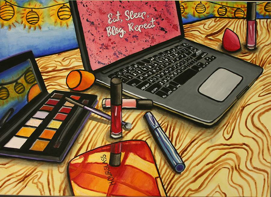 """Laura Zibbon Silver Key, """"Painting Life of a Blogger"""""""
