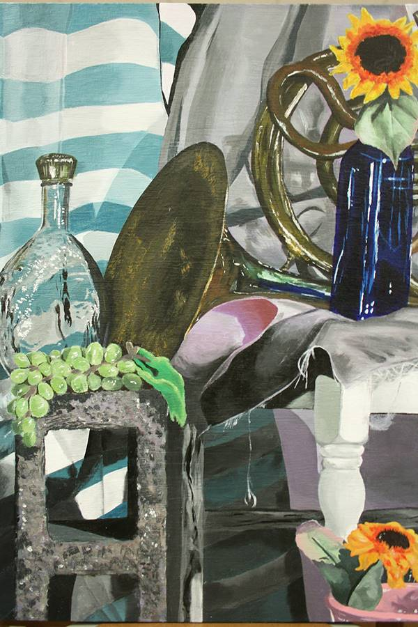"""Emily Sierzant Honorable Mention, Painting """"Beauty of the Past"""""""