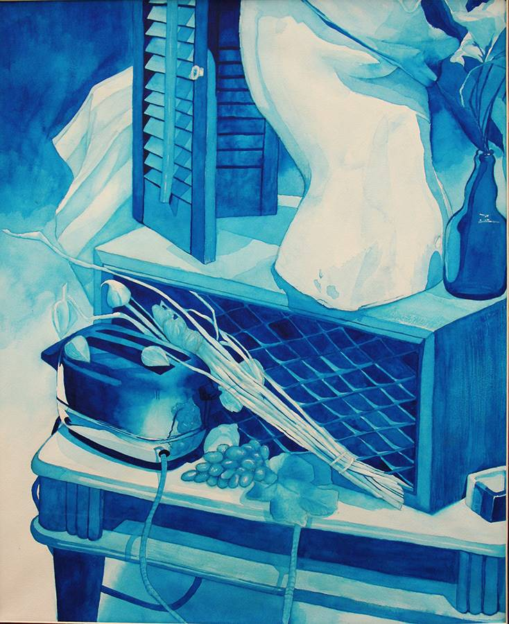 """Emily Sierzant Honorable Mention, Painting """"Garage Sale Success"""""""