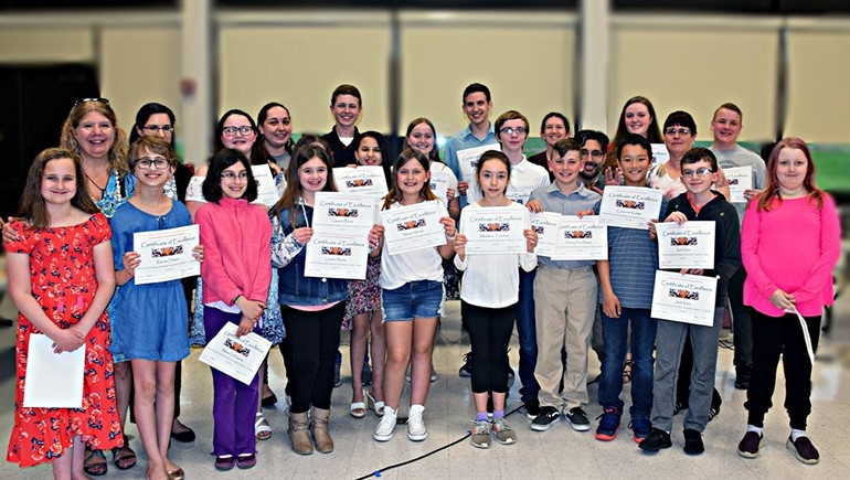 Students musicians were recognized by the BOE.