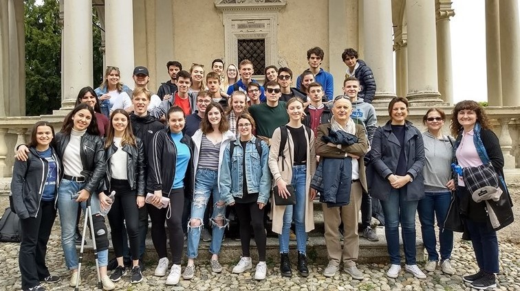 Our students in Italy as part of the Italian Exchange program.