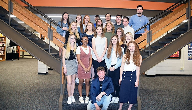 UEHS Class of 2019 Top 20 students.