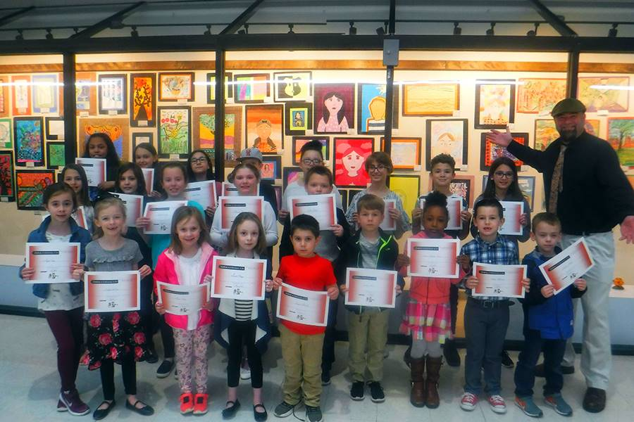 District elementary art show 2019