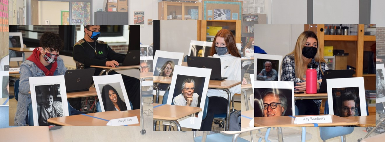 UEHS English students share the classroom with famous authors.