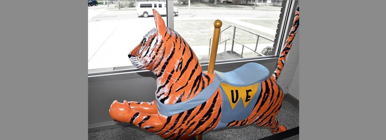 New Carousel Tiger in the district office lobby.