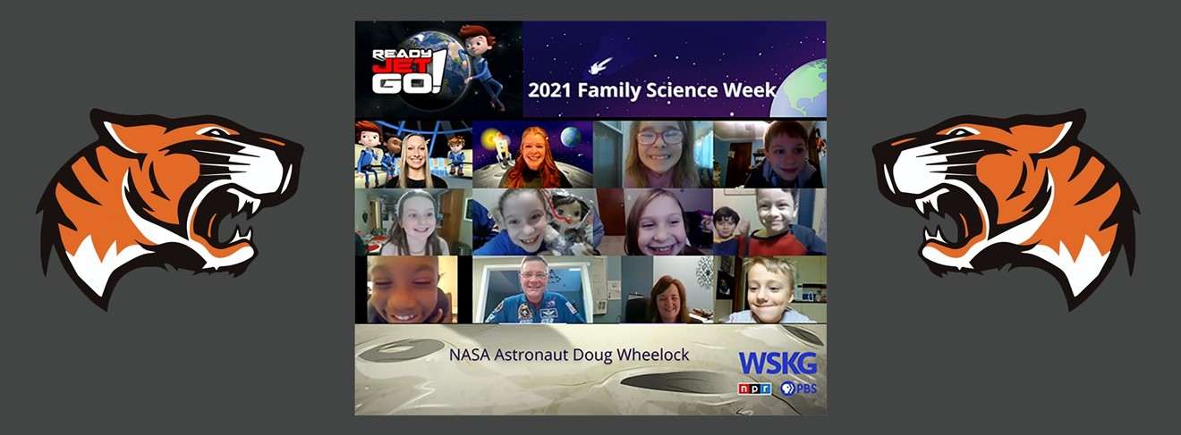 AGM students talked with Astronaut Wheelock during science week.