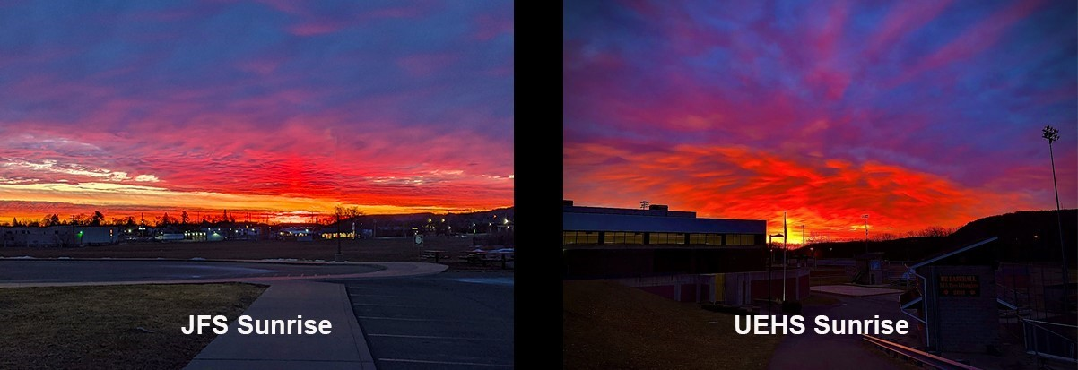 Sunrises at JFS and UEHS.