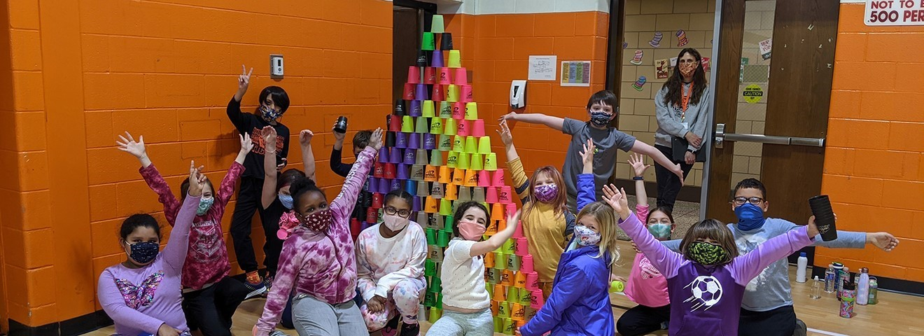 TJW students had fun participating in cup stacking.