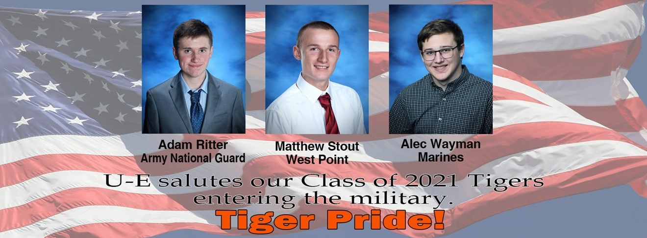 Saluting our Tigers going to the military.