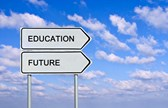 education and future signs like road signs